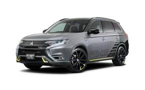 Picture Mitsubishi, crossover, Outlander, PHEV, 2019, Street Sport