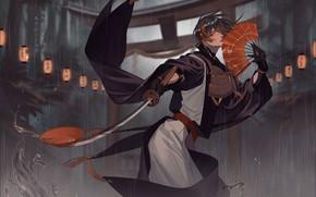 Picture liquid, sword, guy, Touken ranbu, Dance Of Swords
