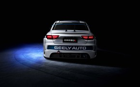 Picture racing car, rear view, 2018, Race Car, Geely, Emgrand GL