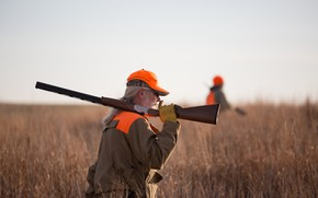Picture shotgun, jacket, hunting, striking color