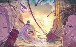 Picture anime, art, knight, Subaru, Re: Zero kara hajime chip isek or Seikatsu