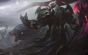 Wallpaper Flag, Warrior, Axe, Wolf, Battle, Armor, Art, League of Legends, LoL, Artwork, League Of Legends, ...