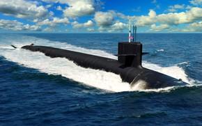 Picture submarine, prototype, Navy, class Columbia