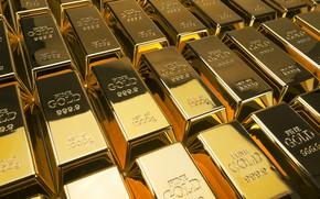 Picture gold, Shine, bars, gold, sample, ingots