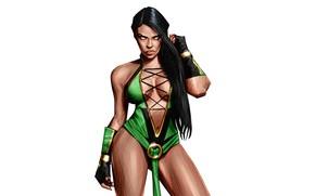 Picture Minimalism, Figure, Background, Art, Classic, Art, Mortal Kombat, Mortal Kombat, Minimalism, Characters, Jade, Jade, Digital …