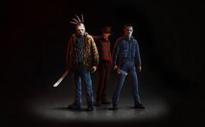 Picture Minimalism, Background, Jason Voorhees, Art, Horror, Freddy Krueger, Horror, Horror, Freddy Krueger, Character, Jason Voorhees, …