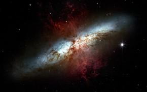 Picture Stars, Galaxy, Gas, Starburst galaxy, Constellation Ursa Major, Stellar nursery, M 82, Messier 82, The …