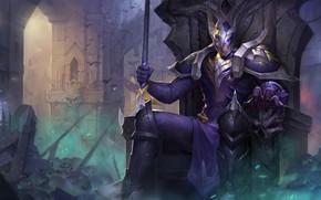 Picture warrior, helmet, male, Arena of Valor