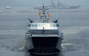 Picture boat, Navy, landing, on the go