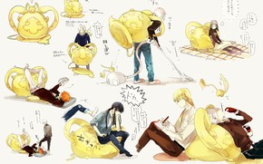 Picture anime, art, pillow, kids, characters, D.Gray-man