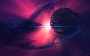Picture Stars, Planet, Space, Nebula, Star, Planet, Fantasy, Planets, Art, Stars, Space, Blik, Art, Satellite, Planet, …