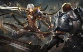 Picture Sword, battle, guy, warriors, Lineage