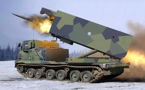 Picture MLRS, MLRS, M270, American universal launcher, Multiple Launch Rocket System