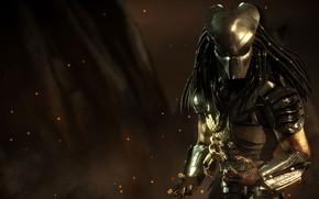 Wallpaper predator, mask, alien, dreadlocks, Predator, DLC, mask, NetherRealm Studios, Mortal Kombat X, mortal Kombat x, ...