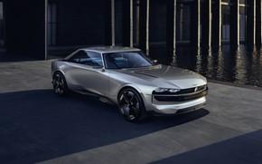Picture car, Peugeot, gray, Peugeot e-Legend, e-Legend
