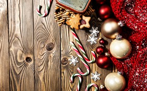 Picture decoration, balls, New Year, Christmas, Christmas, balls, wood, New Year, decoration, xmas, Merry