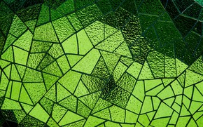 Picture glass, mosaic, texture, green