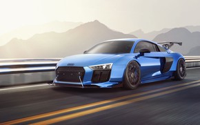 Picture Audi, Auto, Blue, Machine, Audi R8, Rendering, Vehicles, Transport & Vehicles, by Alexey Kievich, Alexey …