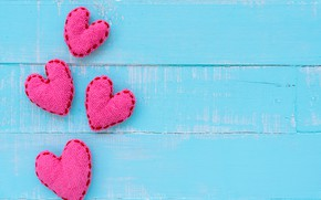 Picture love, heart, hearts, love, heart, wood, blue, pink, blue background, romantic, purple