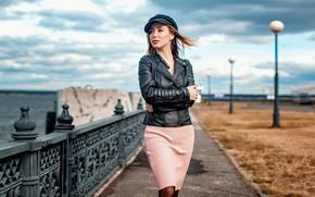 Picture look, the wind, hair, Girl, Alexander Urmashev