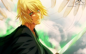 Picture smile, blood, hat, guy, Bleach, Bleach