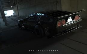 Picture Auto, Machine, DeLorean DMC-12, DeLorean, DMC-12, Rendering, Black Edition, Transport & Vehicles, Rostislav Prokop, by …