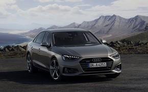 Picture Audi, sedan, Audi A4, 2019, dark gray