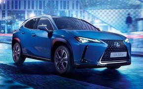 Picture auto, night, lights., Lexus-UX-300e-2020-5120x2880