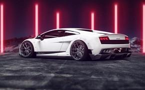 Picture Auto, White, Machine, Gallardo, Car, Rendering, Lamborghini Gallardo, Matija Keser, Transport & Vehicles, by Matija …