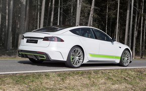 Picture rear view, Tesla, Mansory, Model S, 2016