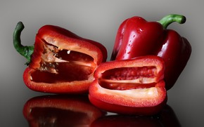 Picture pepper, bell pepper, red bell pepper