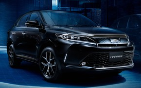 Picture Toyota, Harrier, 2018, crossover, Style Blueish, Progress