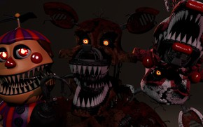 Picture the game, doll, monsters, Five Nights at Freddy's, mechanical dolls, Five nights at Freddy's