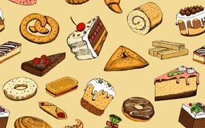 Picture background, food, texture, dessert, sweet, pastries, Seamless
