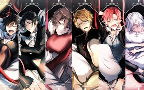 Picture collage, anime, art, guys, cuties, Bungou Stray Dogs, Stray Dogs: A Literary Genius