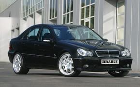 Picture Mercedes-Benz, Brabus, sedan, W203, C-Class, the second generation, 5.8-liters, V8 engine, 400 horsepower