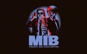 Picture Men in Black, Characters, Background, Art, Jules Winnfield, PH Freitas, by PH Freitas, Vincent Vega …