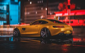 Picture Auto, Yellow, Machine, Style, Mercedes, Car, NFS, Art, Art, Style, Mercedes-AMG GT, Need For Speed …