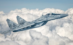 Picture Clouds, Fighter, Lantern, The MiG-29, Pilot, Cockpit, Of the air force of Slovakia, HESJA Air-Art …