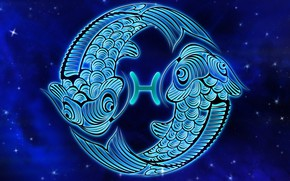 Picture space, fish, zodiac sign