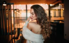 Picture room, model, long hair, фотограф Юрий Тулач
