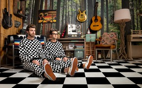 Picture guitar, the room, tape, Wallpapers, Rhett and Link