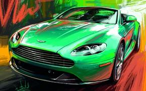 Picture Aston Martin, Car, Sketch, Alexander Sidelnikov, DB-8