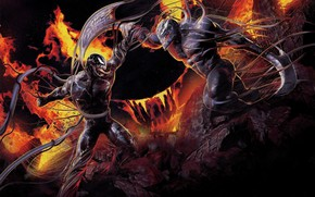 Picture weapons, the opposition, art, two, Venom, Venom, the symbiote
