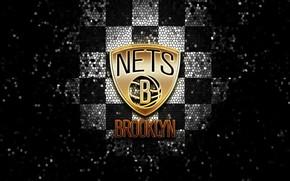 Picture wallpaper, sport, logo, basketball, NBA, Brooklyn Nets, glitter, checkered