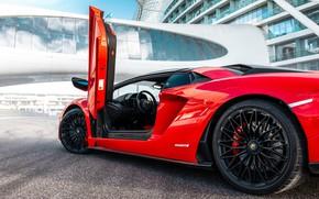 Picture Roadster, Lamborghini, the door, supercar, Aventador, Aventador S, 2019