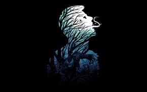 Picture forest, minimalism, Venom, Venom, symbiote, Eddie Brock