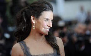 Picture look, pose, smile, actress, brunette, profile, Evangeline Lilly, earring, photoshoot, hair, Evangeline Lilly