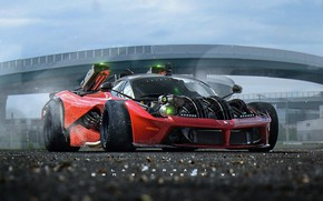 Wallpaper machine, the game, race, Khyzyl Saleem, Ghost Games, Live To Offend - La Ferrari