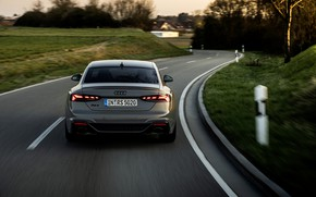 Picture road, movement, Audi, coupe, back, RS 5, 2020, RS5 Coupe